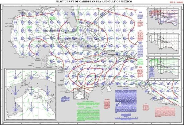 January-caribbean-sea-gulf-pilot-chart