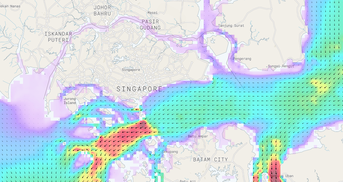 Singapore Strait Tidal Currents