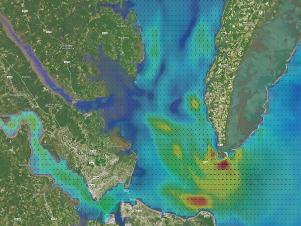 Chesapeake Bay Currents切萨皮克湾洋流